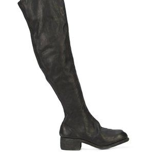GUIDI  WOMEN'S PL4 BABY CALF OVER KNEE ZIP BOOTS